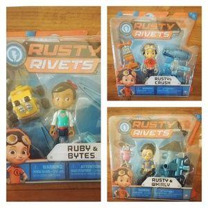 Rusty& Crush Bytes Whirly Action Mini Build Set
